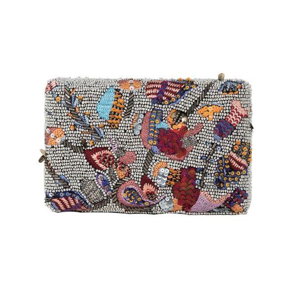 Silver Parfois party clutch bag cottage 1qd0qwa