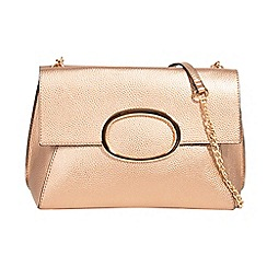 Parfois - Gold juanita cross bag