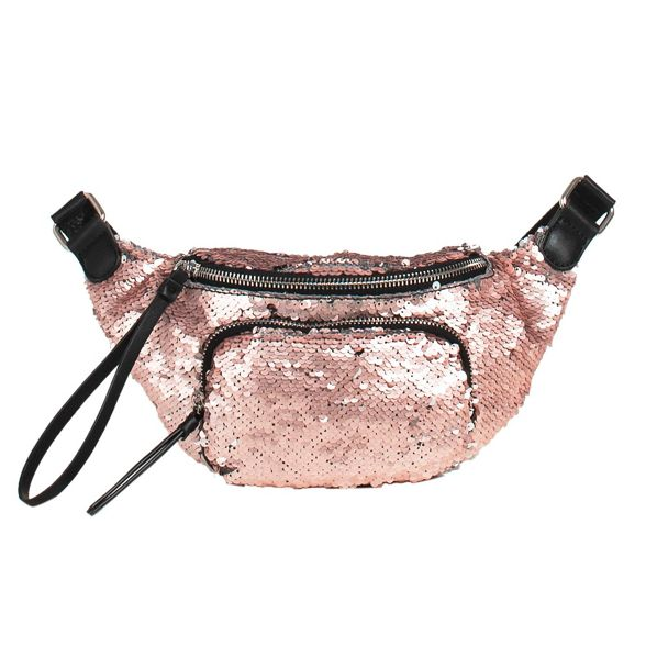 cross belt Parfois sequins Pink bag xwqSY70RY