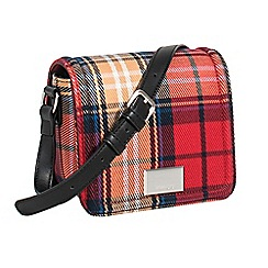 Parfois - Red new checks cross bag