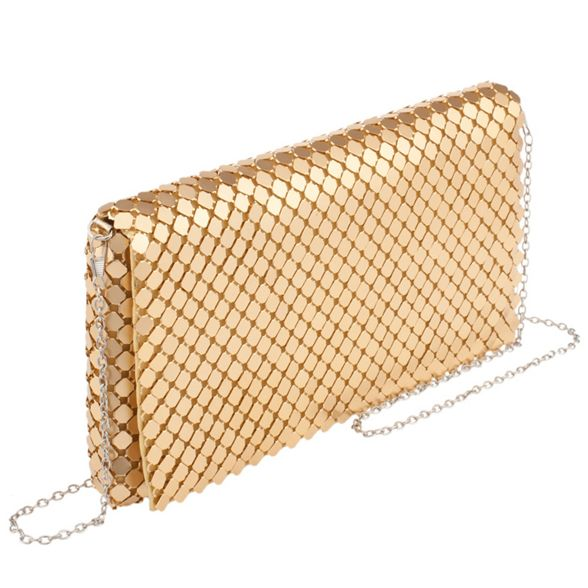 Parfois bag party mesh Gold clutch big xqFf0wOFT