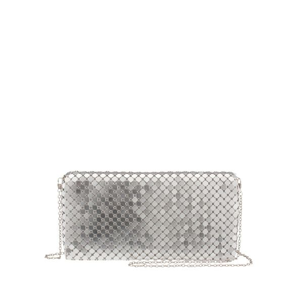 clutch mesh party Parfois Silver big bag SW8Fqwnaq