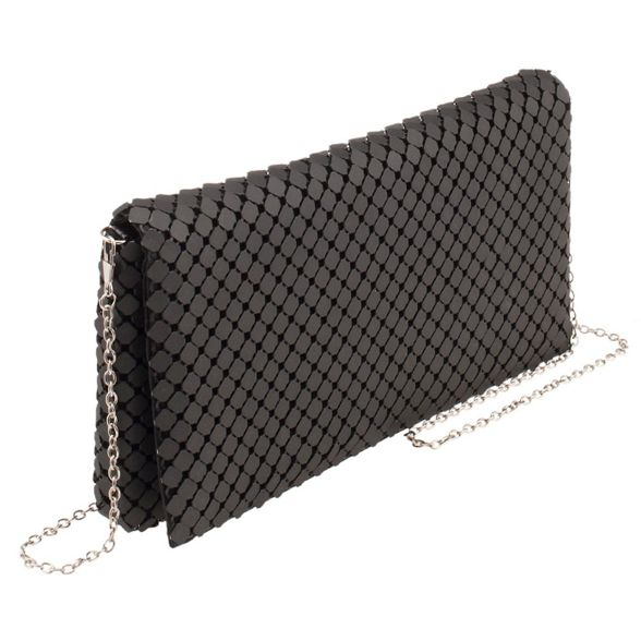 big Parfois party Black bag mesh clutch fPqOTw7