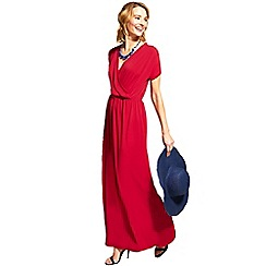 HotSquash - Red cross over short sleeved maxi dress