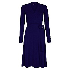 HotSquash - Blue Wrap Dress in clever fabric