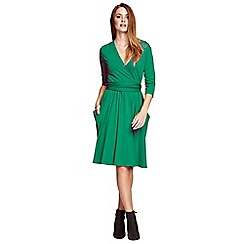 HotSquash - Lawn Thinheat False wrap, fit 'n flare thermal dress