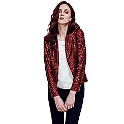 HotSquash - Wine Red Sequin Jacket in Clever Thermal Fabric