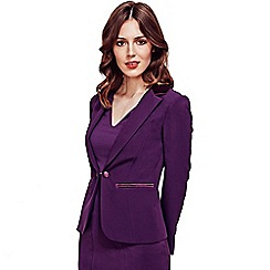 HotSquash - Damson Tuxedo Jacket with Silky Trim