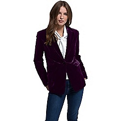 HotSquash - Plum velvet jacket with clever fabric