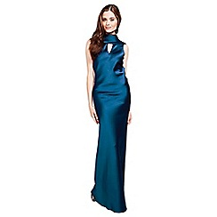 HotSquash - Teal long dress with cowl back