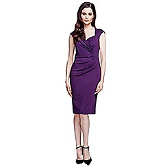 HotSquash - Damson short sleeved dress in clever fabric