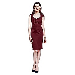 HotSquash - Burgundy short sleeved dress in clever fabric