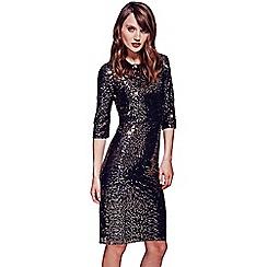 HotSquash - Gold knee length sequin dress