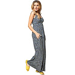 HotSquash - Yellow chevrons print empire line maxi dress