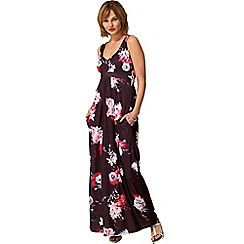 HotSquash - Lily print sleeveless empire line maxi dress