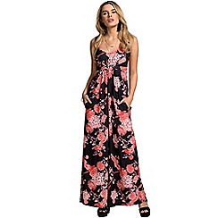 HotSquash - Exotic grasses print empire line maxi dress