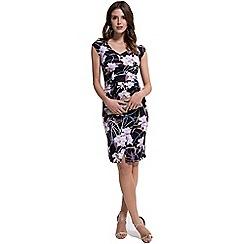 HotSquash - Occasion Print Raglan Sleeve Gathered Dress