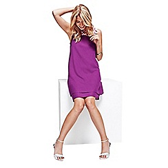 HotSquash - Purple Double Layered Dress in CoolFresh Fabric