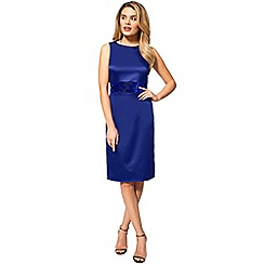 HotSquash - Royal silky sleeveless burnout waistband dress
