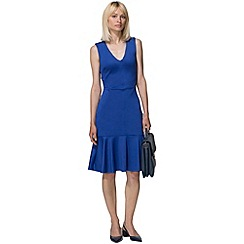 HotSquash - Royal blue drop waist ponte dress in clever fabric