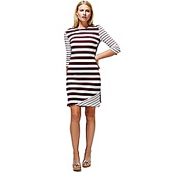 HotSquash - Damson striped york dress in clever fabric