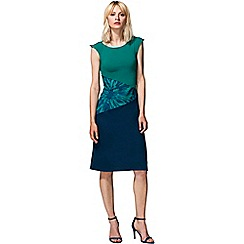 HotSquash - Green flowers patterned waist dress in clever fabric