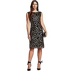 HotSquash - Gold aztec circle sleeveless sequin dress