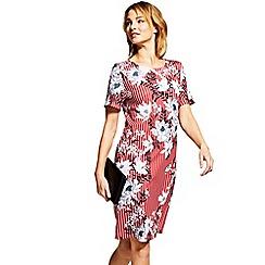 HotSquash - Petals & striped Riviera short sleeved shift dress