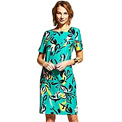 HotSquash - Floral graffiti Riviera short sleeved shift dress
