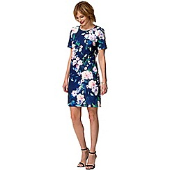 HotSquash - Flower garden crepe short sleeved 'riviera' dress