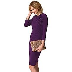 HotSquash - Purple ruffle jersey dress in thermal fabric