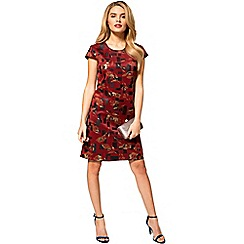 HotSquash - Dark red scuba cap sleeves shift dress