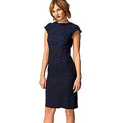HotSquash - Blue polka dot knee length shift dress
