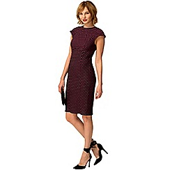 HotSquash - Purple polka dot knee length shift dress