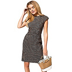 HotSquash - Cream polka dot knee length shift dress