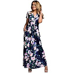 HotSquash - Flower garden short sleevesd maxi dress