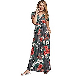 HotSquash - Pin striped floral short sleeved maxi dress