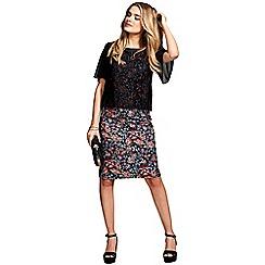 HotSquash - Embroidery print short sleeved dress