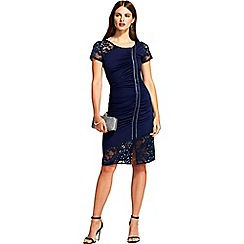 HotSquash - Navy lace sleeved 'samantha' cocktail dress