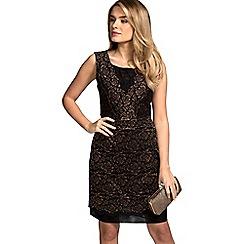 HotSquash - Copper rose sleeveless shift dress