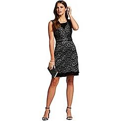 HotSquash - Silver rose sleeveless shift dress