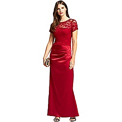 HotSquash - Red short sleeved 'sasha' maxi evening dress