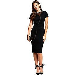 HotSquash - Black short sleeved 'river' ponte dress
