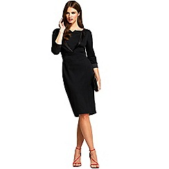 HotSquash - Black 3/4 sleeves tuxedo ponte dress