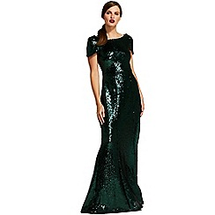 HotSquash - Green cowl backed sequin maxi