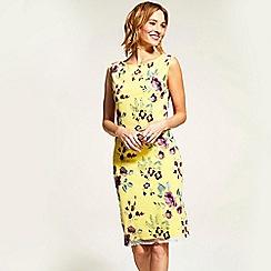 HotSquash - Yellow sleeveless embroidered shift dress