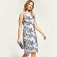 HotSquash - Lilac sleeveless embroidered shift dress