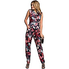 HotSquash - Rose garden print sleeveless jumpsuit