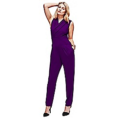 HotSquash - Purple jumpsuit in clever fabric