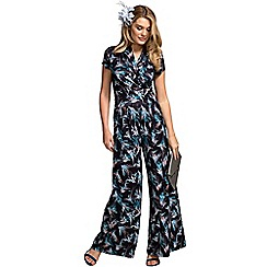 HotSquash - Exotic grassed cap sleeve wideleg jumpsuit